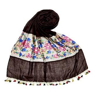 Flower Aari Diamond Collection - Dark Brown