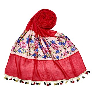 Flower Aari Diamond Collection - Red