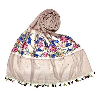 Flower Aari Diamond Collection - Coffee Colour
