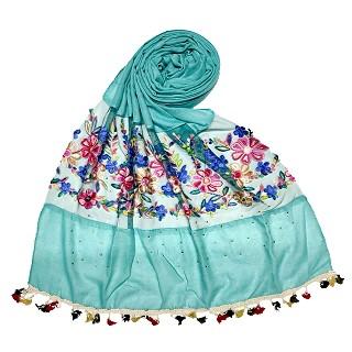 Flower Aari Diamond Collection - Sea Green