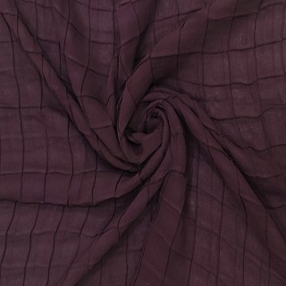 Chiffon Checkered Hijab- Purple