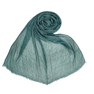 Crinkle Cotton Glitter Stole For Women - Green