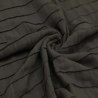 Chiffon Checkered Stole - Grey