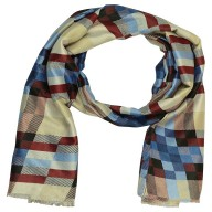 Designer Viscose Printed Stole- Multi Strip