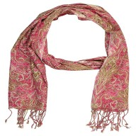 Premium Rayon Printed Stole- Rose