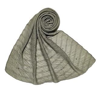 Premium Cotton Crush Designer Diamond Studded  Stole - Grey