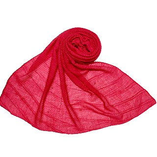 Premium Cotton Crush Designer Diamond Studded  Stole - Red