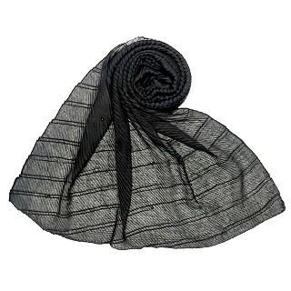 Premium Cotton Crush Designer Diamond Studded  Stole - Black