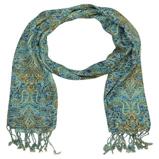 Premium Rayon  Printed Stole- Blue