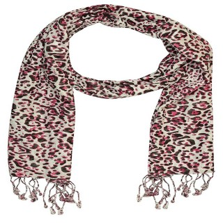 Premium Rayon  Printed Stole- Red and White