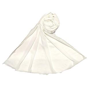 Premium Chiffon Plain Stole - White