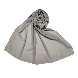 Premium Chiffon Plain Stole - Grey