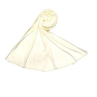 Premium Chiffon Plain Stole - Cream