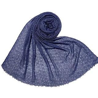 Premium bubble crush collection hijab - Blue