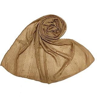 Designer diamond studded  hijab- Brown