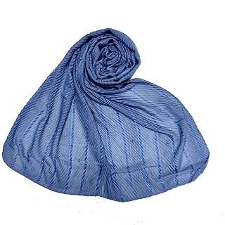 Designer diamond studded  hijab- Blue