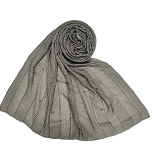 Designer diamond studded  hijab- Grey