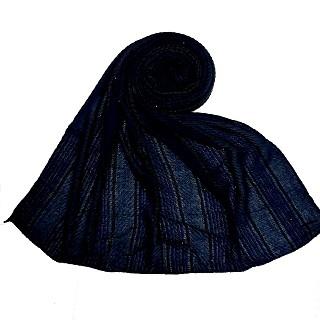 Designer diamond studded  hijab- Navy Blue