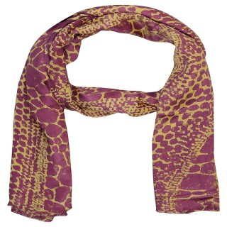 Satin Digital Print Stole- Purple