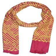 Satin Digital Print Stole-Pink