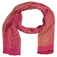Saturn Digital Print Stole- Dark Pink