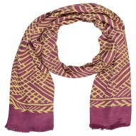 Digital Print Stole in Purple Color - Satin Fabric
