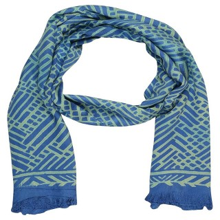 Digital Printed Stole in Dark Blue