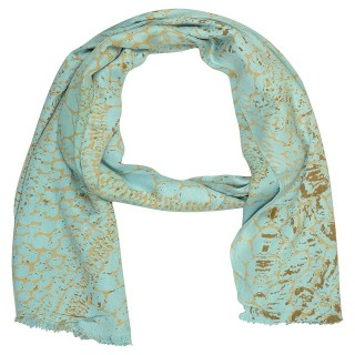 Digital Print Stole - Sky Blue