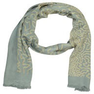 Digital Print Stole- Grey