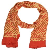 Digital Print Stole- Red