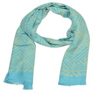 Digital Print Stole - Sea Blue
