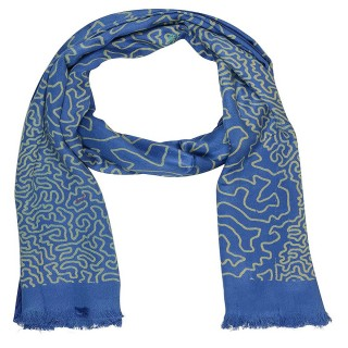 Digital Print Stole - Dark Blue