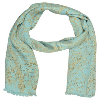 Digital Print Stole- Light Blue Shade