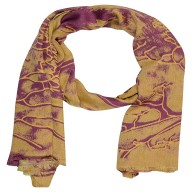 Digital Print Stole- Golden