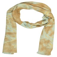 Digital Print Stole- Golden shade