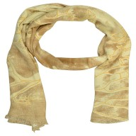 Digital Print Stole- Brown