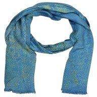 Denim Blue Color Digital Printed Stole