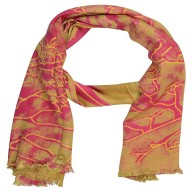 Golden Color Digital Printed Stole