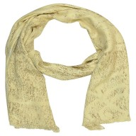 Digital Printed Stole- Cream