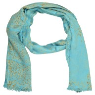 Digital Printed Stole- Sea Blue
