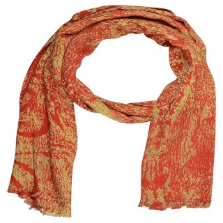 Premium Satin Printed Stole- Red