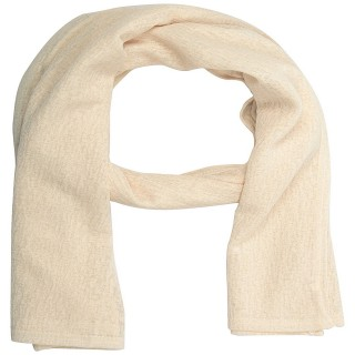Cotton Plain Women's Stole - Cream