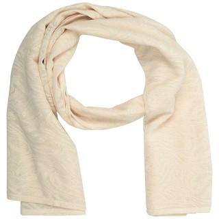 Cotton Plain Women's Stole - Light Cream