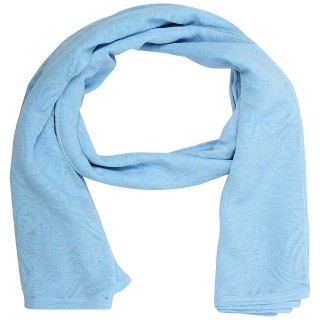 Cotton Plain Women's Stole - Sky Blue