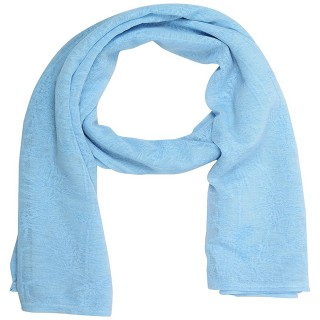Cotton Plain Women's Stole - Blue