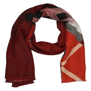 Maroon Color- Cotton Shaded Stole