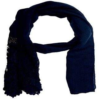 Designer Cotton Plain Women's Stole - Royal blue