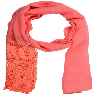 Designer Cotton Plain Women's Stole - Pink