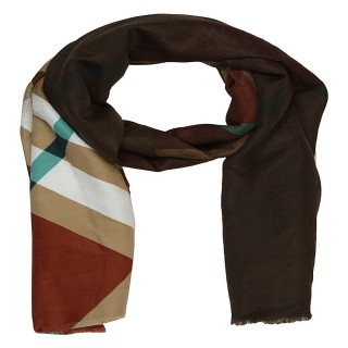 Premium Cotton Shaded Scarf -Brownish Cream