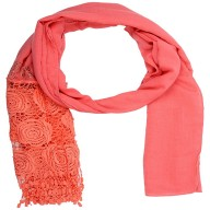 Half Net Diamond Stole- Pink
